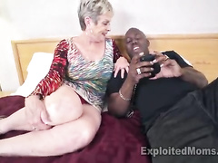 Married granny sucking a young guy's delicious BBC