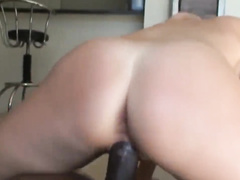 Two wives share one big black cock